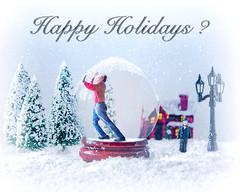 Happy Holidays (Repp1) Tags: bc canada christmas people randall snow snowglobe niege bouleàneige insideout reverseworld àlenvers hiver winter