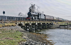 West Coast Cambrian Day Out (Wulfruna Kid) Tags: 48151 gauge0guild lms class8f sirwilliamastanier westcoastrailwaycompany cambrianmainline ynyslas borth afonleri