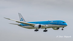 BHO  Boeing 787-9 Dreamliner  -  KLM Royal Dutch Airlines (Peter Beljaards) Tags: msn42509 genx final inbound landing nikond5500 aviationphotography nikon70300mmf4556 dreamliner boeing7879 orchidee orchid phbho klm flyingdutchman ams eham schiphol 787 b787 aircraft airplane