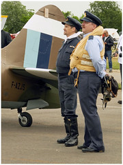 RAF (Aerofossile2012) Tags: supermarine spitfire prxix fazjs avion aircraft aviation meeting airshow laferté 2017 reenactors people pilot pilote uniform uniforme raf