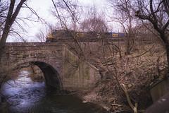 rolling over (wwnorm) Tags: eyerpark aquatic bridge railroad train water picaday2019