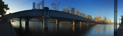 Phone camera pano - the visual distortion and variation in exposure is quite interesting (PsJeremy - Lots to catch up after travelling...) Tags: melbourne sandridgebridge southbank yarra city bridge iphone australia