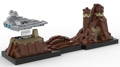 Lego Star Wars - Jedha Skyline MOC (BenBuildsLego) Tags: lego legos jedha rogue one star wars jyn erso destroyer imperial isd mini micro scale miniscale microscale skyline architecture building toy toys creative amazing render 3d studio bricklink planet prequel city mountain empire space ship moc own creation