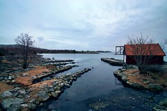 Deep in the bay (StoresundPhoto) Tags: bay sea rogaland norway norge nature natur nature2019 colors color longexposure light landscape lines line lights boathouse stones stone water tree trees sky leaders leading