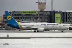 IMG_0669@L6 (Logan-26) Tags: boeing 7378kv uruic msn 63406 ukraine international airlines riga rix evra latvia aleksandrs čubikins airport winter snow home air baltic