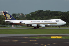 9V-SFF, Singapore Changi, November 16th 2008 (Southsea_Matt) Tags: 9vsff singaporeairlines cargo freighter boeing 747412f singapore changi sin wsss canon 30d autumn november 2008 aviation aircraft airplane transport