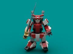 Speak Softly (The Hydromancer) Tags: mech suit zero frame mobile mfz scifi micro space katana sword seed gundam lego red astray