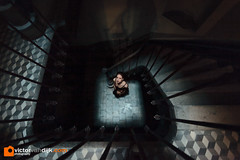 Dungeon (Victor van Dijk (Thanks for 6M views!)) Tags: fav fave faved favorite model female woman dungeon stair stairs cellar basement dark moody