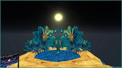 Sous la lune jaune ... (Tim Deschanel) Tags: under yellow moon asmita duranjaya nice atoll tim deschanel sl second life art particule fractal pastel particles interstellart peinture motif lune jaune