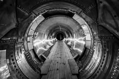 Plane Tunnel (juliolunap) Tags: sweden sverige gothenburg göteborg blackandwhite blackwhite blackandwhiteporn blackwhitephoto blackwhitephotography bnw bnwphoto bnwphotography symmetry symmetryporn symmetrylovers plane fighter museum museums airmuseum