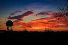 Milan Linate Airport Sunset (Prilla 4.0) Tags: sunset tramonto clouds nuvole linate milano milan italy italia silhouette canonpowershotsx540hs