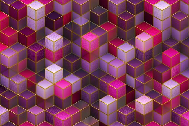 Обои кубы, разноцветный, розовый, фиолетовый, формы картинки на рабочий стол, фото скачать бесплатно