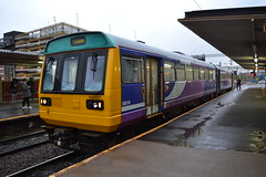 Northern Pacer 142027 (Will Swain) Tags: station 20th september 2018 greater manchester city centre north west train trains rail railway railways transport travel uk britain vehicle vehicles england english europe salford crescent central northern pacer 142027 class 142 027
