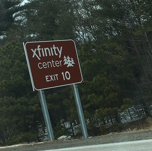 xfinity center, Exit 10 on I-495 (MA)