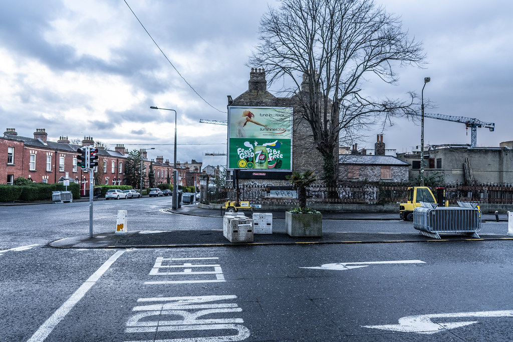 THE DAY BEFORE THE DUBLIN ST. PATRICK'S DAY PARADE [THE STAGING AREA FOR THE PARADE - LIMITED ACCESS TOMORROW TO THIS AREA OF THE CITY]-150032
