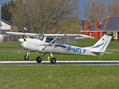 G-UFLY Cessna 150 (SteveDHall) Tags: aircraft airport aviation airfield aerodrome aeroplane airplane blackpool blackpoolairport bpl blk egnh 2019 generalaviation ga gufly cessna c150 cessna150