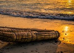The Sound of Waves (risaclics) Tags: smile saturday watermove 50mm18 huanchaco may2016 nikond610 peru coast fishingboat playa sunset waves smileonsaturday
