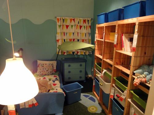 イケアの如何にもな子供部屋と題した写真