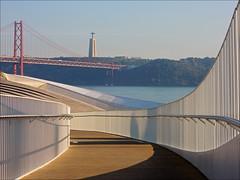 03_57 MAAT (k_man123) Tags: portugal lisboa lisbon belem maat architecture museum bridge river water jesus statue sculpture