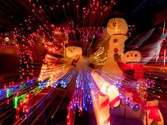 PC204197 (Copy) (pandjt) Tags: orléans ottawa ontario nightphotography winterphotography ledlights christmaslights taffylane icm intentionalcameramovement abstract