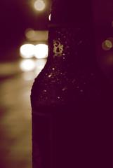 Bottled Troubles Sepia (Callums art) Tags: bottle bottles glass night nightphoto nightphotography nightphotographer digbeth urban street birmingham brum england uk unitedkingdom city citylife citylights bokeh bokehful