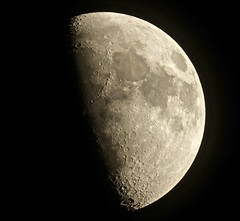 Waxing Gibbous Moon (Sarah and Simon Fisher) Tags: astronomy astrophotography moon moonwatch lunar lunarseas craters clear nightsky nightskyphotography photography primefocus naturalsatellite waxing gibbous canon 600d maksutov 127mm telescope bromsgrove worcestershire uk