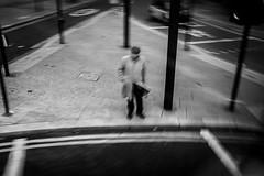 pedestrian (jrockar) Tags: street streetphoto streetphotography candid decisive moment instant man life documentary photography surreal bw mono bnw blackandwhite jrockar janrockar surrealism minimal fuji fujix fujifilm x100f slowlight motion blur motionblur london pedestrian