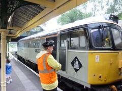 "Class 33/0 diesel electric Bo-Bo locomotive no. 33063 ""R J Mitchell""  at Eridge station (Kentishman) Tags: dmczx1 rjmitchell class330 southeast rcts 33063 panasonic lumix kent locomotive bobo spavalleyrailway eridge p1050651 dieselelectric tunbridgewells station"