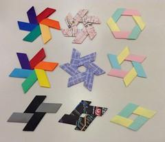 6-Piece Expandables & X-2 Diamond (maplecrane) Tags: origami modular toy actionmodel