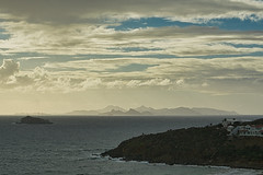St. Barth's from Sint Maarten (KWPashuk (Thanks for >3M views)) Tags: sony alpha a6000 55210mm lightroom luminar luminar2018 luminar3 kwpashuk kevinpashuk seascape island sintmaarten stmartin stbarths carribean nature landscape skies morning