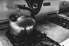 IMG_8229logo (Annie Chartrand) Tags: farmhouse house abandoned ruraldecay illinois calhouncounty antique monochrome kitchen stove teapot bw blackandwhite