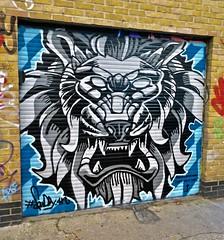 Squiddy, London, UK (Robby Virus) Tags: london england uk unitedkingdom britain greatbritain gb squiddy street art artist quaker cafe shoreditch brick lane metal door