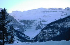 Lake Louise Alberta Canada (Mr. Happy Face - Peace :)) Tags: lakelouise fairmount 25years activities outside hotel chateau winter snowcaps sky cloud art2019 albertabound alberta canada getaway relaxation flickrfriends love nature hiking