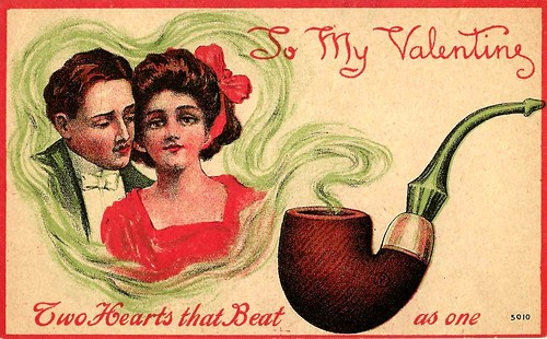 Vintage Valentine Postcard - To My Valentine, Two Hearts That Beat As One, Circa Early 1900s