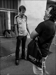 DRP140819_0943D (dmitryzhkov) Tags: urban outdoor life human social public stranger photojournalism candid street dmitryryzhkov moscow russia streetphotography people bw blackandwhite monochrome phone phonephotography