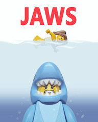 LEGO JAWS (40gOingOn4!) Tags: lego jaws movies movie poster film minifigures minifigure toys toy macro shark nikon d7100 105mm uk rob robert trevissmith