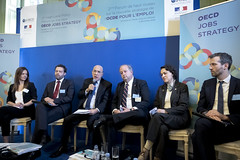 Second High Level Policy Forum on the New OECD Jobs Strategy (Organisation for Economic Co-operation and Develop) Tags: paris france fra employment jobs strategy angel gurria oecd muriel pénicault french minister