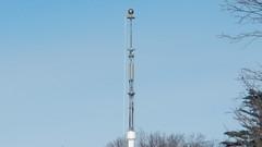 Exposed (blazer8696) Tags: 2019 baldwinplace ecw mahopac ny newyork t2019 usa unitedstates antenna camouflage cell cellular disguise flag pole tower dscn4318 maintenance mobile phone telephone