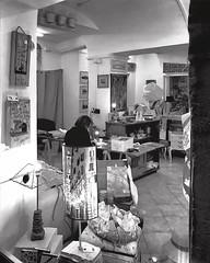"""Handicraft"" (giannipaoloziliani) Tags: italy italia jobs iphonephotography iphone genova genoa flickr art arte alleys alleysofgenoa vicolidigenova vicoli capture caruggi vetrina artigiano artigianato artista window shop blackandwhite biancoenero handicraft"