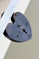 Old Rusty Lock (traceyellen) Tags: padlock lock metal rust keyhole vintage old safe antique weathered object macro