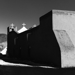 Taos Pueblo No. 22 (T) (Mabry Campbell) Tags: h5d50c hasselblad newmexico santafe taos taospueblo usa unitedstatesofamerica adobe architecture blackandwhite building commercialphotography fineart fineartphotography historic image minimal minimalism nativeamerican old photo photograph photographer photography pueblo squarecrop f50 mabrycampbell december 2016 december272016 20161227campbellb0001214 80mm ¹⁄₈₀₀sec 100 hc80
