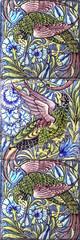 De Morgan parrots (robmcrorie) Tags: william de morgan williamdemorgan demorgan tile ceramic design arts crafts 19th century victorian parrot frieze foliage fulham factory 1888 1898