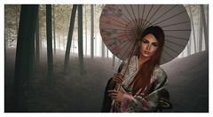 The Bamboo Garden (Saga Mea) Tags: secondlife sl avatar bamboo bamboogarden nature 3dart 3dgirl girl kimono japanese missingwhale digitalart virtualworld
