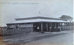 Harbour Board's offices in Mackay, Qld - early 1900s (Aussie~mobs) Tags: queensland mackay vintage australia harbourboard office building sulky horseandcart staff