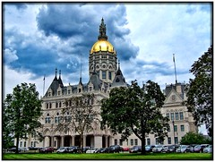 Connecticut State Capitol ~ Hartford ~ Connecticut (Onasill ~ Bill Badzo - 62 Million - Thank You) Tags: connecticut state capitol hartford ct nrhp historic us national landmark architecture eastlake style gothic architect richard m upjohn bushnell park historical tours attraction dome exterior building onasill downtown golddome