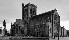 Paisley Abbey (circa 12th century) (Rourkeor) Tags: 12thcentury 35mm 35mmzeisssonnartlens abbey carlzeiss paisley rx1r renfrewshire saintmirren scotland sony uk blackwhite fullframe historic statue sonyflickraward