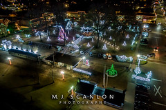 Collierville Square (M.J. Scanlon) Tags: digital wow scanlon mojo photographer photograph capture picture mjscanlon mjscanlonphotography super ©mjscanlonphotography ©mjscanlon outdoor outdoors landscape drone dji mavik2zoom mavik2 quadcopter collierville tennessee lights christmas square smalltown aerial above sky
