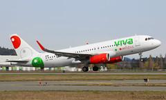 XA-VAQ VivaAerobus Airbus A320-232@YYJ 31Mar18 (Spotter Brandon) Tags: xavaq viva vivaaerobus airbus a320 a320232 mexicoflight yyj cyyj victoria