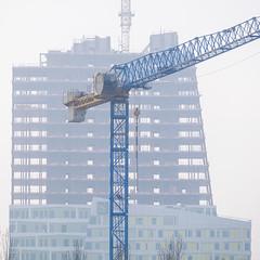 Under Construction (Håkan Dahlström) Tags: 2019 architecture bygge construction crane hyllie malmö photography point site skåne sweden f62 xt1 square cropped 1ev normal 201902171617294 raw 1618mm iso200 ¹⁄₁₂₀sec xc50230mmf4567ois fujifilmxt1 se