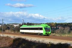 Comboio Especial n.º 92212 - Porto da Lage (valeriodossantos) Tags: comboio cp train passageiros aut0350 allan automotoradiesel marcha especial comboioespecial seguimentodematerial tomar linhadonorte caminhosdeferro portugal portodalage